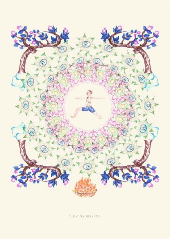 yoga garden IV Art Print
