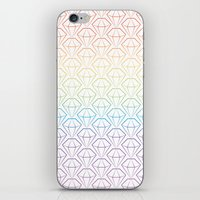 Rainbow Emeralds Pattern iPhone & iPod Skin