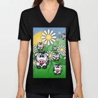 Cows & Daisies  Unisex V-Neck