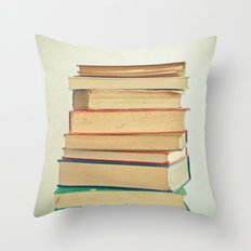 Stack of Books Throw Pillow