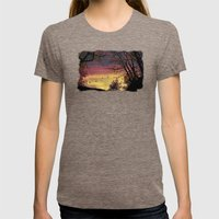 Catch of the day Womens Fitted Tee Tri-Coffee SMALL