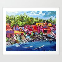 Philadelphia's Boathouse Row Art Print