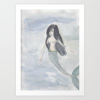 Mermaid Sister Art Print