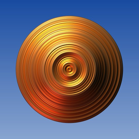 Golden Disc - for Circle Week Art Print