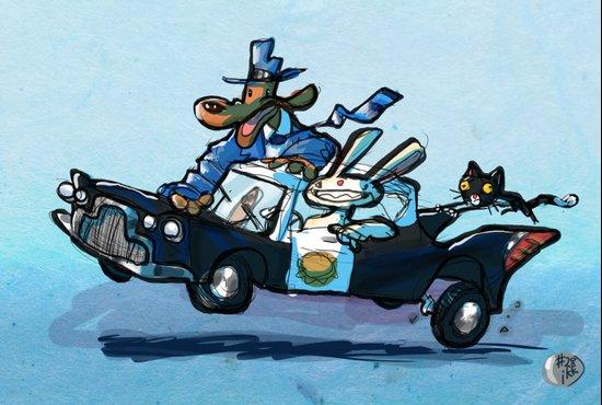 Use Verb on Noun #28: Sam & Max Hit The Road Art Print