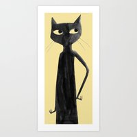 Kitty Cat Don't Care Art Print