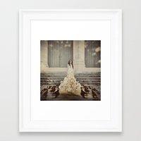 Bridal Portrait Framed Art Print