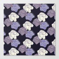 lavender roses Canvas Print