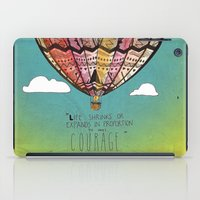 Life Expands quote iPad Case