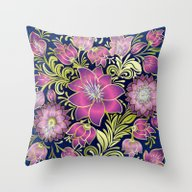 Shabby Flowers #1 Throw Pillow