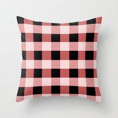 Pink squares Throw Pillow