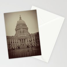 Madison Wisconsin Capital Building Architecture Sepia Photography Stationery Cards
