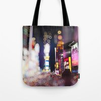 Times Square Blurrr-Bokeh Tote Bag
