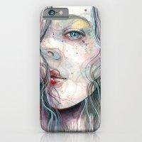 Sleepy violet, watercolor iPhone 6 Slim Case