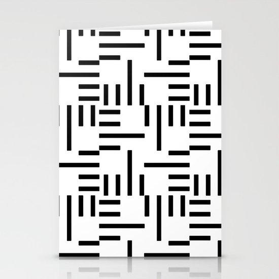 Kemper Black & White Stationery Card