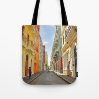 Streets of Old San Juan Tote Bag