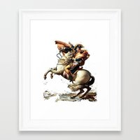Napoleon Crossing the Alps Framed Art Print