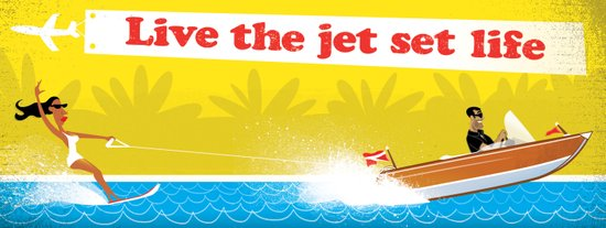 Live The Jet Set Life! Art Print
