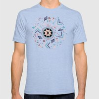 Spirits Of The Stars Mens Fitted Tee Tri-Blue SMALL