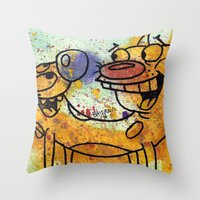 CatDog Throw Pillow