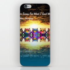 owl-28 iPhone & iPod Skin