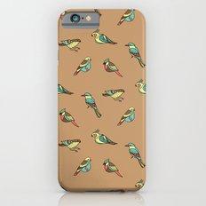 doodle birds - brown Slim Case iPhone 6s
