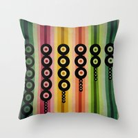 Door Beads Throw Pillow