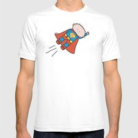 Superheros Mens Fitted Tee White SMALL