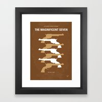 No197 My The Magnificent Seven minimal movie poster  Framed Art Print