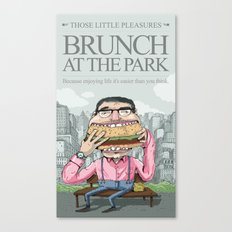 Brunch at the park Canvas Print