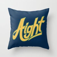 Aight Throw Pillow