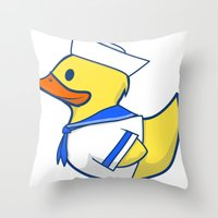 Sailor Duck Throw Pillow