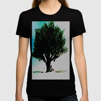 Tree of Life Womens Fitted Tee Black SMALL