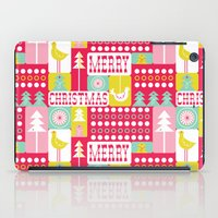Festive Christmas Collage iPad Case