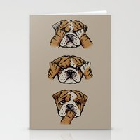 Noevil English Bulldog Stationery Cards