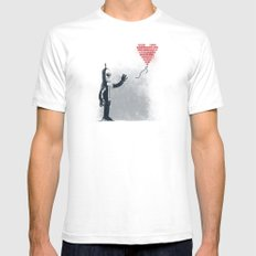 Binary Art SMALL White Mens Fitted Tee