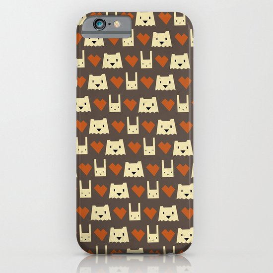 Yeti hearts bunny pattern iPhone & iPod Case