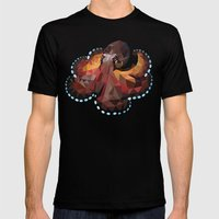 Geometric Octopus Mens Fitted Tee Black SMALL