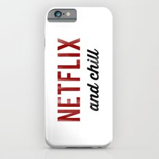 Netflix & Chill Dirty Vintage Typography Slim Case iPhone 6s