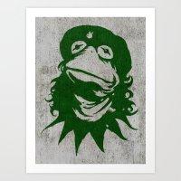 Viva La Frog! Art Print