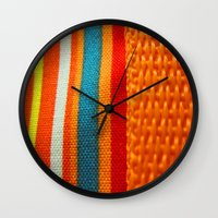 in woven color Wall Clock