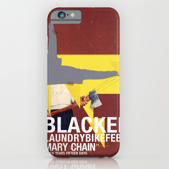 Mary Chain & Blacker band poster iPhone & iPod Case