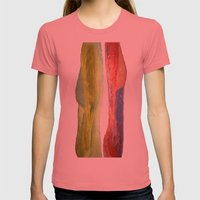 Woman Vs Woman Womens Fitted Tee Pomegranate SMALL