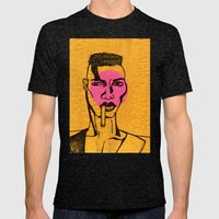 grace jones. Mens Fitted Tee Tri-Black SMALL
