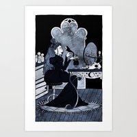lonely witch Art Print