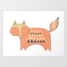 Fox Print Art Print