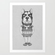 DOG casual. Chief. Art Print