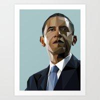 Geometric Obama Art Print