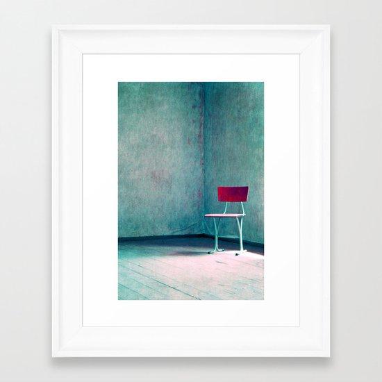 sesión Framed Art Print
