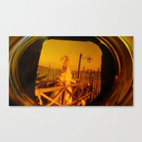 Through The Looking Glas… Canvas Print